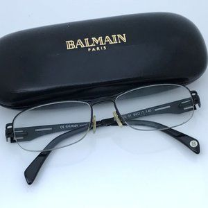 Balmain Paris Eyeglasses Frames Black Modern Desig